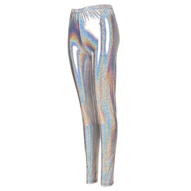 Shiny Leggings - Silver