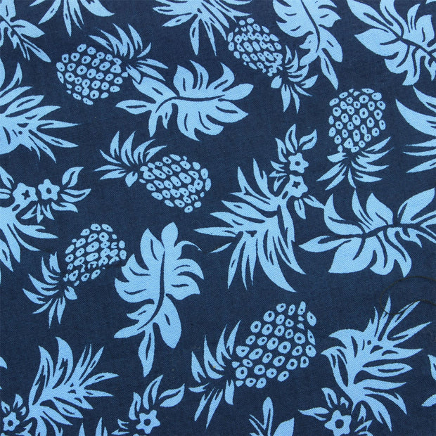 Slim Fit Short Sleeve Shirt - Blue Pinapples