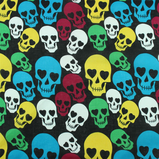 Bandana Face Cover Mask - Rainbow Skulls