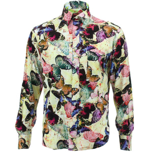 Regular Fit Long Sleeve Shirt - Butterflies
