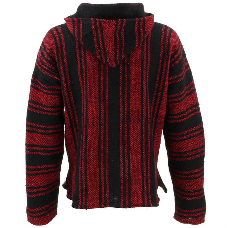 Mexican Baja Jerga Hoody - Red & Black