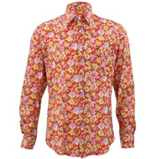 Tailored Fit Long Sleeve Shirt - Red Floral