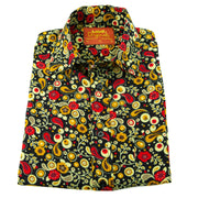 Regular Fit Long Sleeve Shirt - Paisley Garden - Red