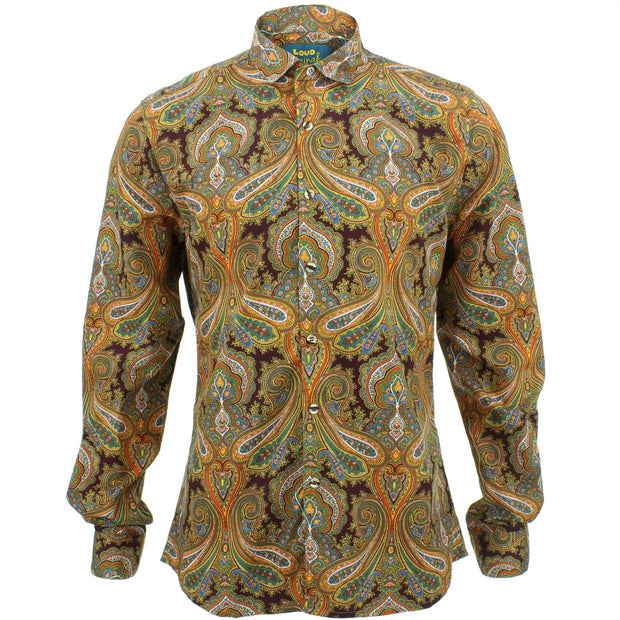 Slim Fit Long Sleeve Shirt - Oriental Paisley
