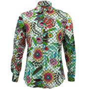 Slim Fit Long Sleeve Shirt - Transparent Floral