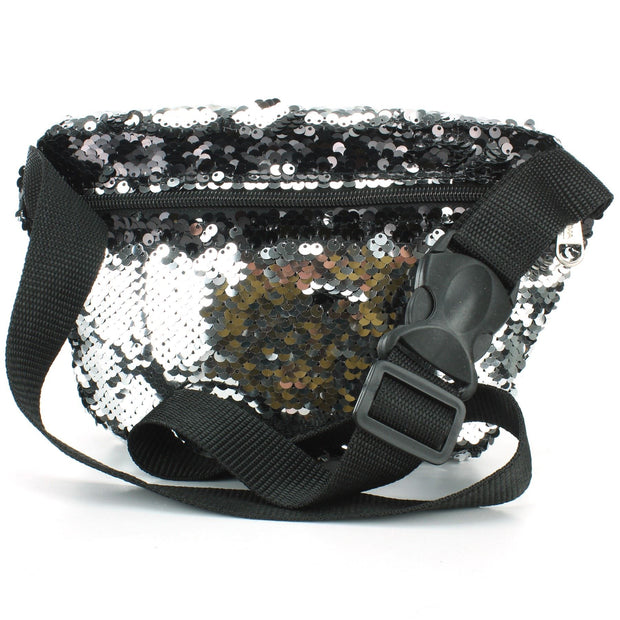 Sequin Bumbag - Silver