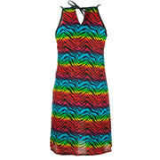 Strappy Dress - Rainbow Zebra