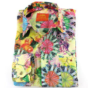 Tailored Fit Long Sleeve Shirt - Yellow Psychedelic