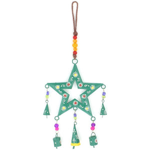 Hanging Star Mobile Decoration - Green