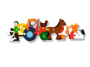 Wooden Jigsaw Puzzle - Number Farmyard