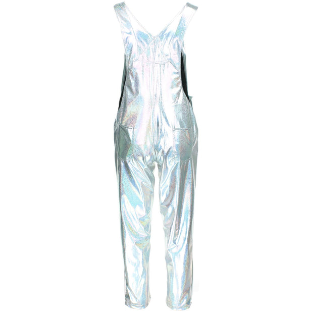 Shiny Dungarees - Silver