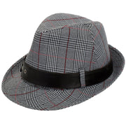 Classic Check Trilby Hat - Grey