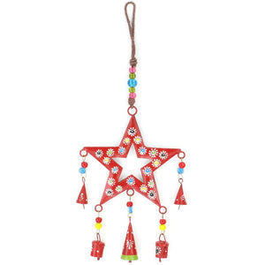 Hanging Star Mobile Decoration - Red