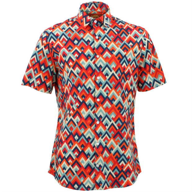 Tailored Fit Short Sleeve Shirt - Mountain