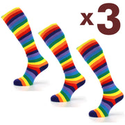 Long Knee High Striped Socks - Set 1