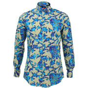 Tailored Fit Long Sleeve Shirt - Floral Tie-Dye