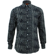 Tailored Fit Long Sleeve Shirt - Spine Lines