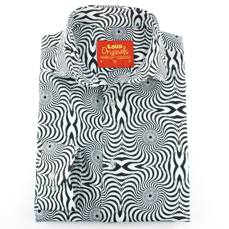 Tailored Fit Long Sleeve Shirt - Psychedelic Swirls