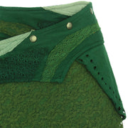Asymmetric Short Popper Skirt - Green
