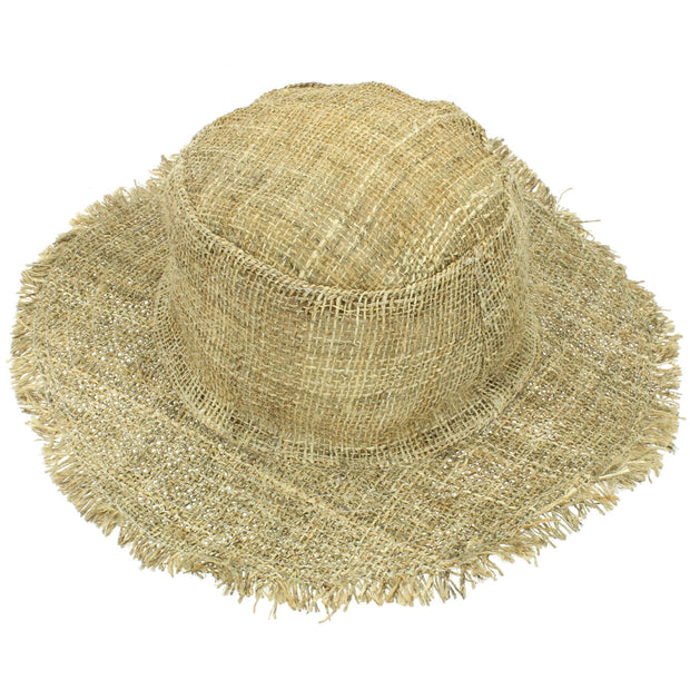 Frayed Brim Hemp Sun Hat - Natural
