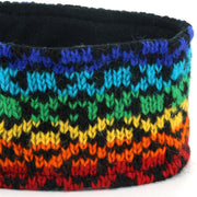 Wool Kint Headband - Rainbow Diamond