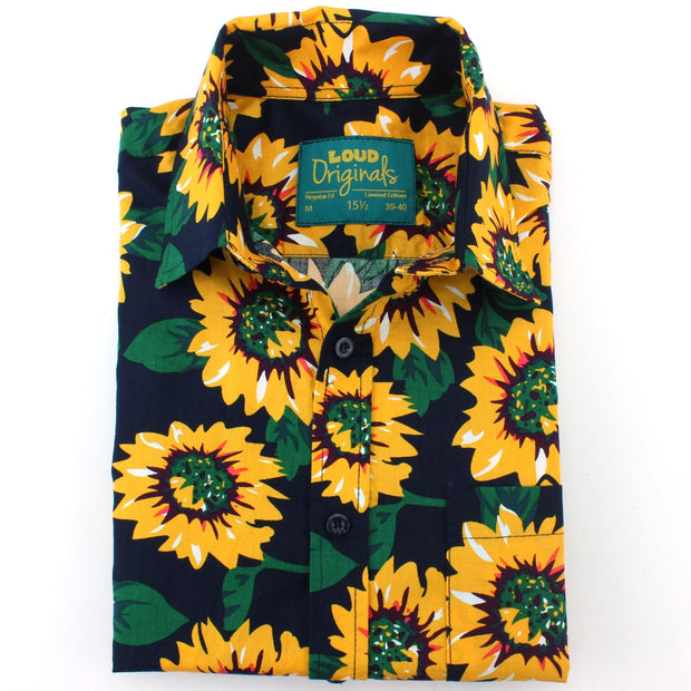 Regular Fit Short Sleeve Shirt - Sunflowers