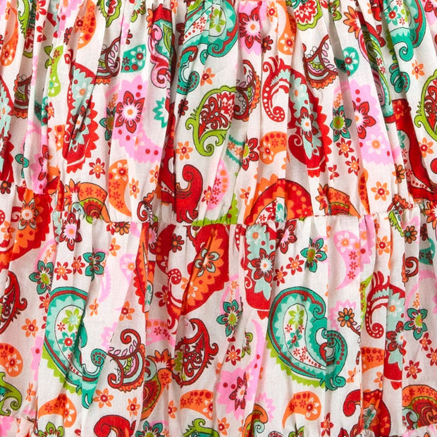 Tier Drop Summer Dress - Vibrant Paisley