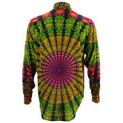 Regular Fit Long Sleeve Shirt - Mandala - Black Green
