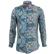 Tailored Fit Long Sleeve Shirt - Indigo Indian