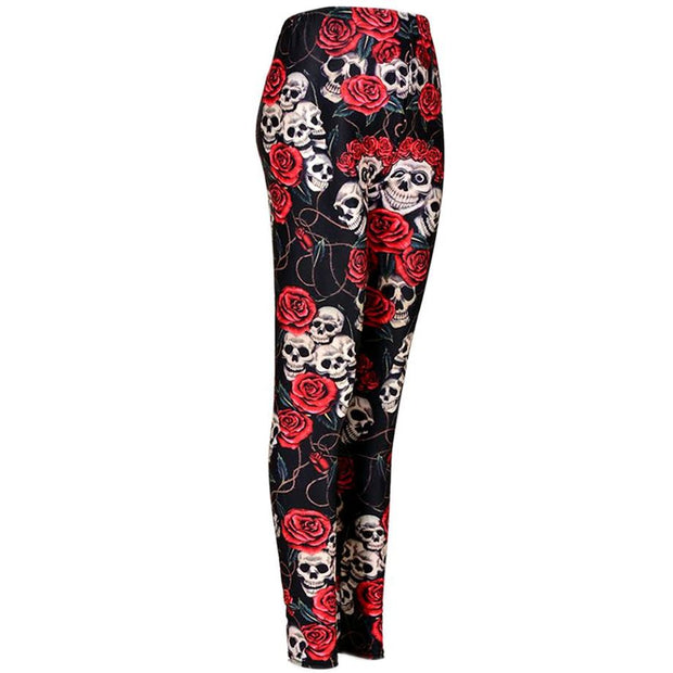 Leggings - Skull & Roses