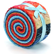 Cotton Batik Pre Cut Fabric Bundles - Jelly Roll  - Daylight Phases