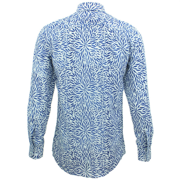 Tailored Fit Long Sleeve Shirt - Block Print - Stamen
