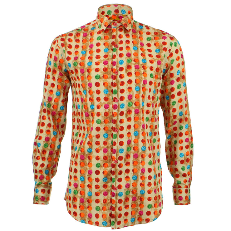 Slim Fit Long Sleeve Shirt - Multi Dotty