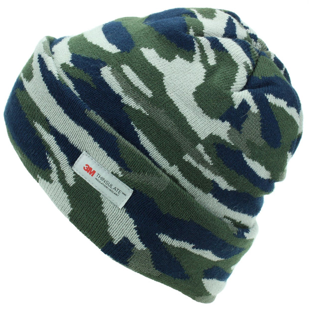 Hawkins Thinsulate Knitted Beanie Hat - Camo