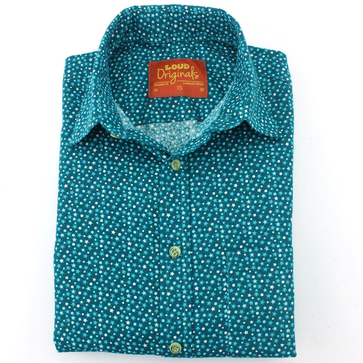 Slim Fit Short Sleeve Shirt - Ditzy Stars