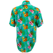 Regular Fit Short Sleeve Shirt - Totally Tropical - Turquoise