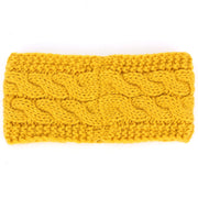 Knitted Ribbed Headband - Mustard