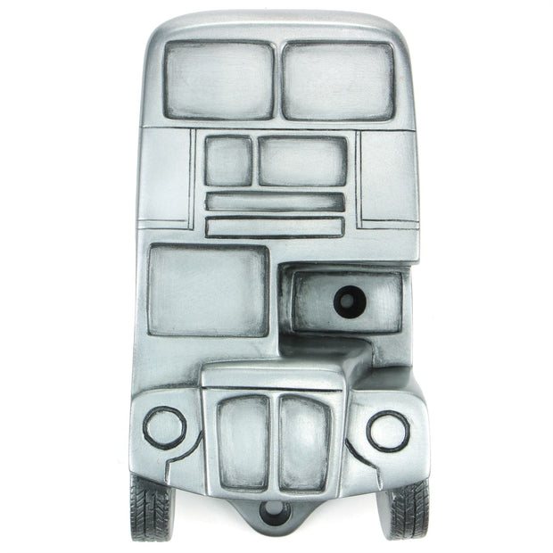 Wall Mounted Character Bottle Opener - London Bus (Silver)