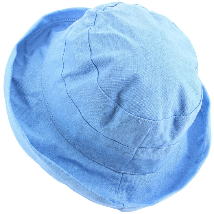 Ladies Linen Sun Hat - Blue