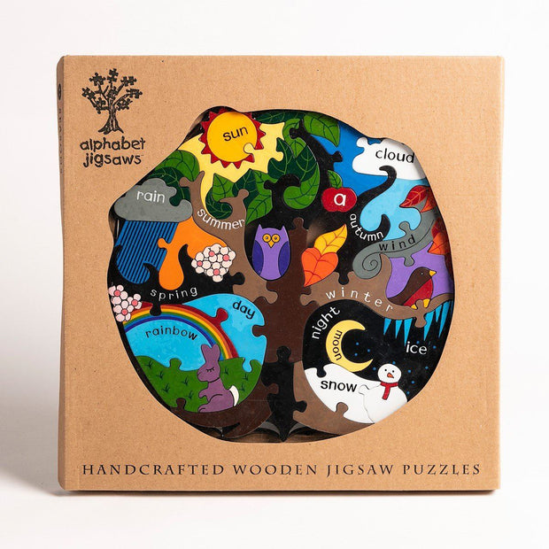 Handmade Wooden Jigsaw Puzzle - Seasons