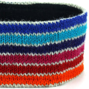 Wool Kint Headband - Stripe Blue