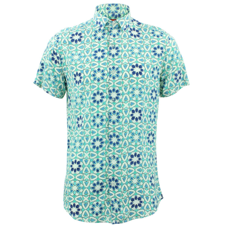 Tailored Fit Short Sleeve Shirt - Moroccan Tile