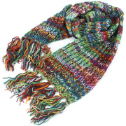 Chunky Wool Knit Scarf - Space Dye - Multi