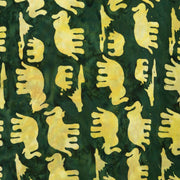 Regular Fit Short Sleeve Shirt - Herd of Elephants - Green