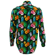 Regular Fit Long Sleeve Shirt - Totally Tropical - Black