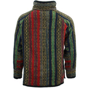 Brushed Cotton Jacket Cardigan - Red Green