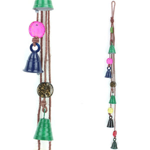 Hanging Mobile Decoration String - Bells - Brown String