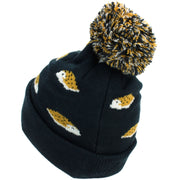 Kids Animal Bobble Beanie Hat - Navy