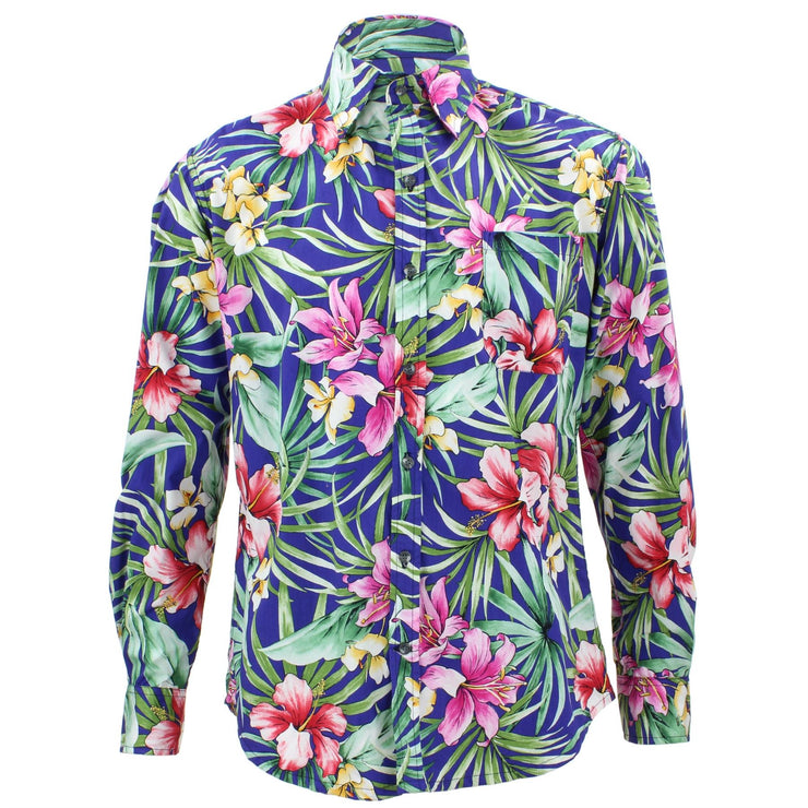 Tailored Fit Long Sleeve Shirt - Bright Purple Lily