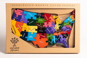 Handmade Wooden Jigsaw Puzzle - Map of the USA